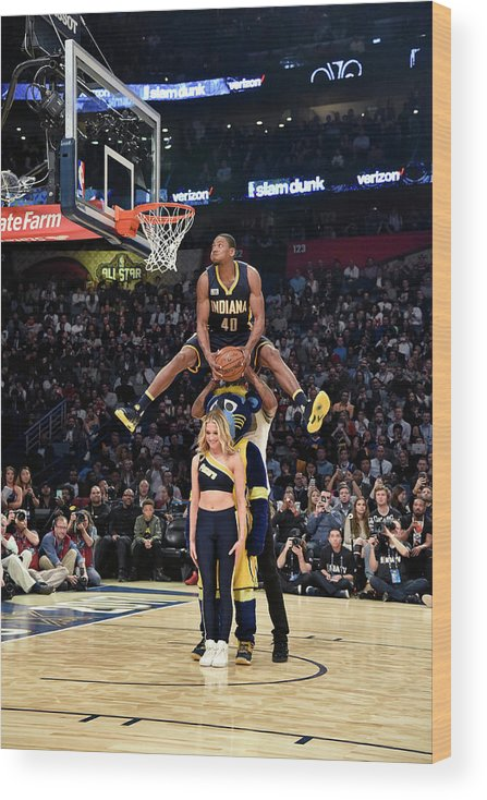 Event Wood Print featuring the photograph Paul George and Glenn Robinson by Bill Baptist
