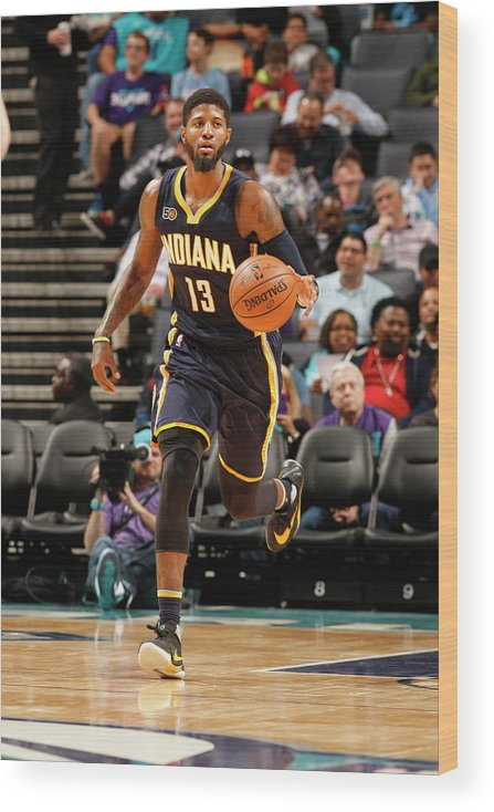 Nba Pro Basketball Wood Print featuring the photograph Paul George by Kent Smith