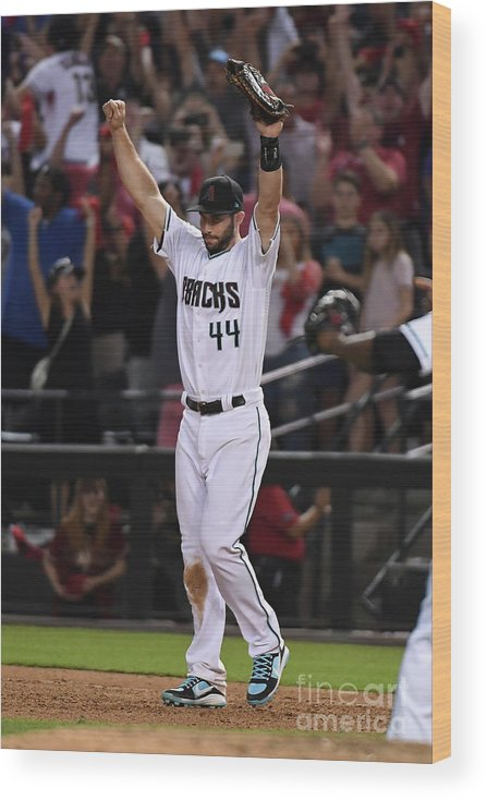 Playoffs Wood Print featuring the photograph Paul Goldschmidt by Norm Hall