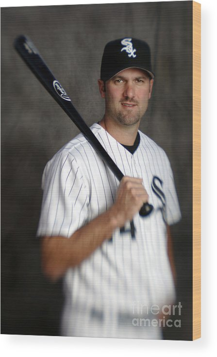 Media Day Wood Print featuring the photograph Paul Konerko by Brian Bahr