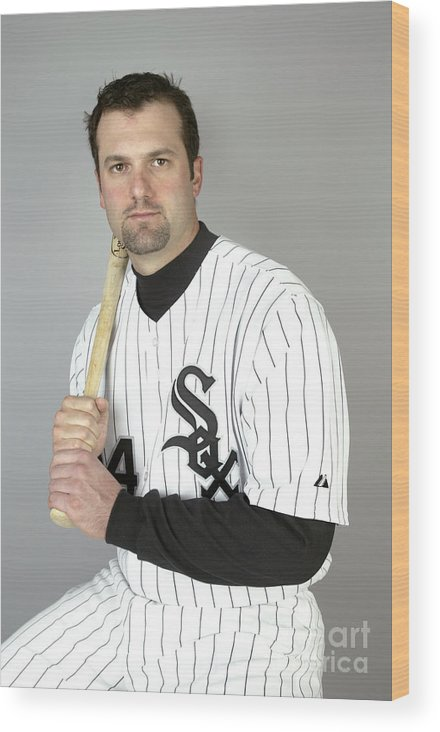 Media Day Wood Print featuring the photograph Paul Konerko by Jeff Gross