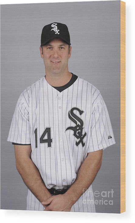 Media Day Wood Print featuring the photograph Paul Konerko by Ron Vesely