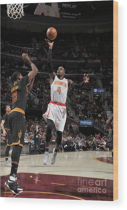 Nba Pro Basketball Wood Print featuring the photograph Paul Millsap by David Liam Kyle
