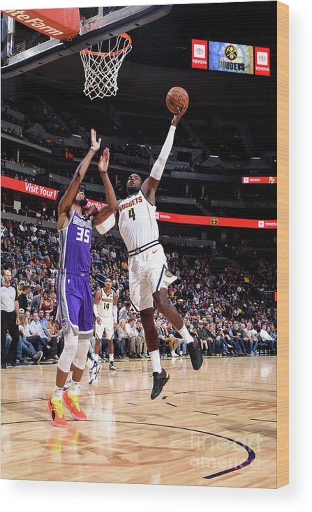 Nba Pro Basketball Wood Print featuring the photograph Paul Millsap by Garrett Ellwood