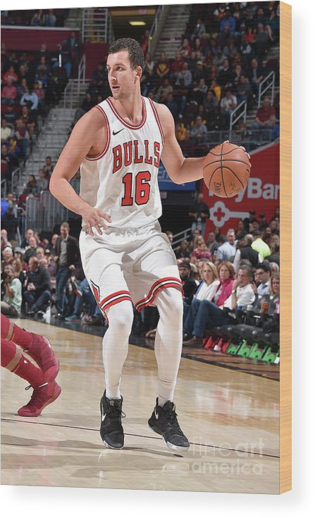 Nba Pro Basketball Wood Print featuring the photograph Paul Zipser by David Liam Kyle