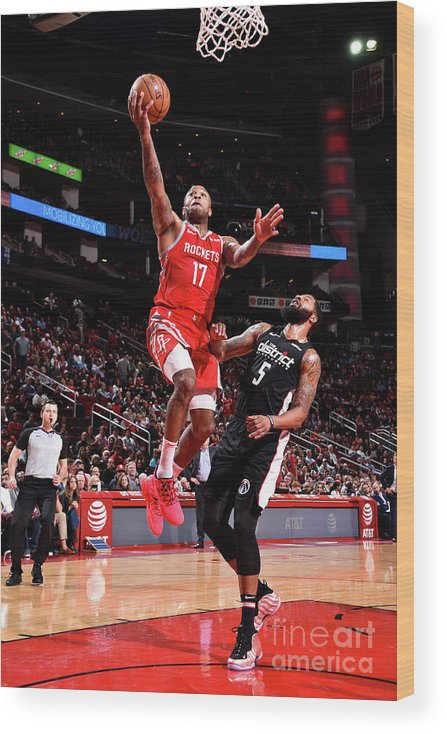 Nba Pro Basketball Wood Print featuring the photograph P.j. Tucker and Markieff Morris by Bill Baptist