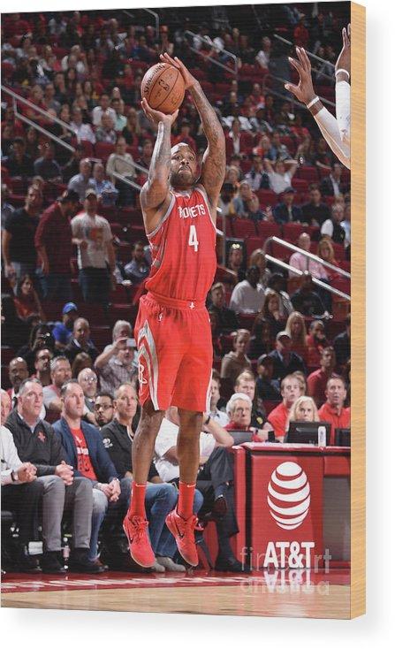 Nba Pro Basketball Wood Print featuring the photograph P.j. Tucker by Bill Baptist