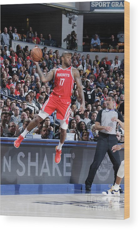Nba Pro Basketball Wood Print featuring the photograph P.j. Tucker by Ron Hoskins