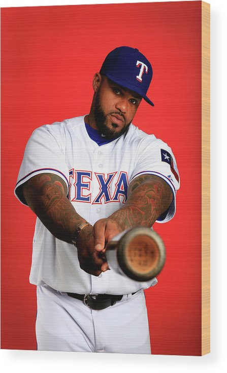 Media Day Wood Print featuring the photograph Prince Fielder by Jamie Squire