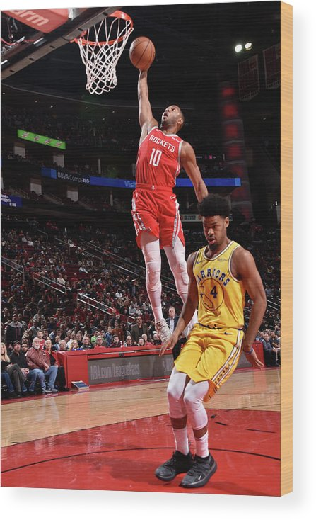 Nba Pro Basketball Wood Print featuring the photograph Quinn Cook and Eric Gordon by Bill Baptist
