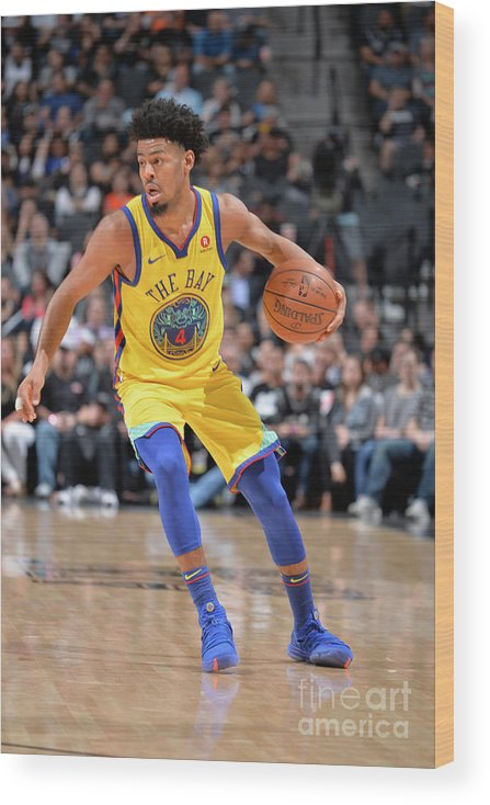 Sports Ball Wood Print featuring the photograph Quinn Cook by Mark Sobhani