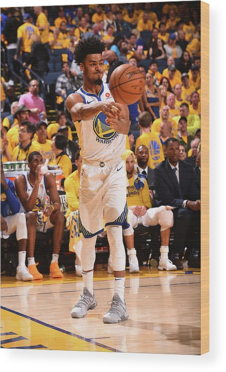 Playoffs Wood Print featuring the photograph Quinn Cook by Noah Graham
