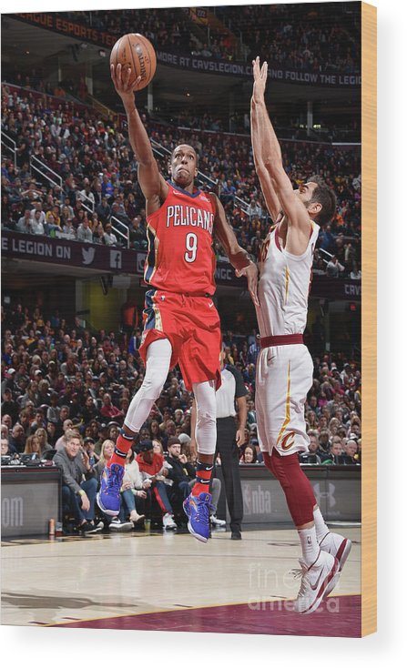 Sports Ball Wood Print featuring the photograph Rajon Rondo by David Liam Kyle