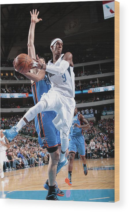 Nba Pro Basketball Wood Print featuring the photograph Rajon Rondo by Glenn James