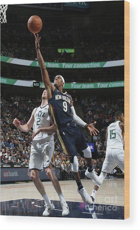 Nba Pro Basketball Wood Print featuring the photograph Rajon Rondo by Melissa Majchrzak