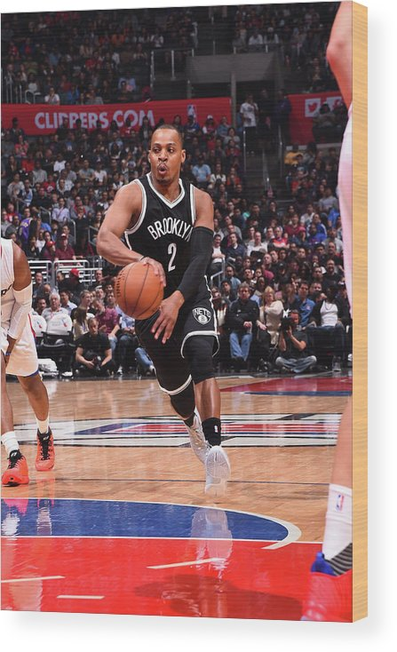 Nba Pro Basketball Wood Print featuring the photograph Randy Foye by Andrew D. Bernstein