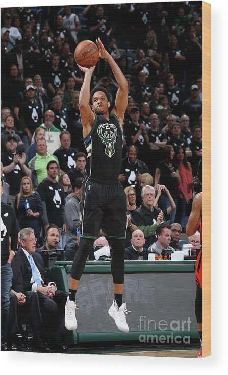 Playoffs Wood Print featuring the photograph Rashad Vaughn by Gary Dineen