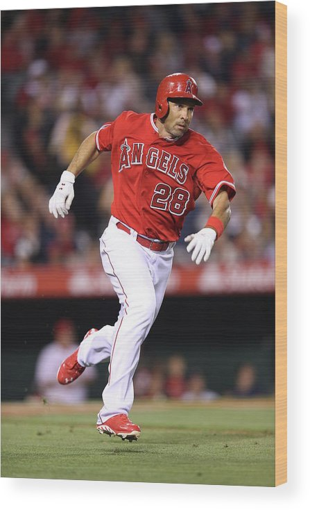 American League Baseball Wood Print featuring the photograph Raul Ibanez by Paul Spinelli