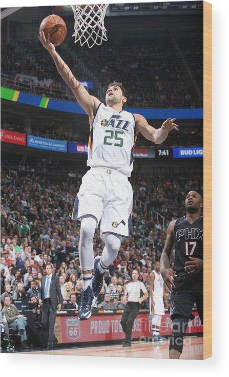 Nba Pro Basketball Wood Print featuring the photograph Raul Neto by Melissa Majchrzak