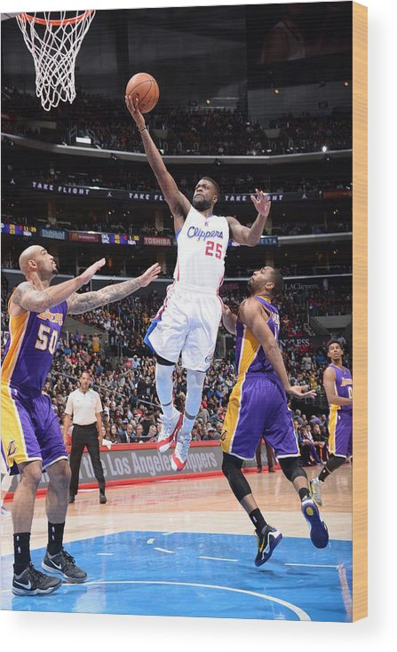 Nba Pro Basketball Wood Print featuring the photograph Reggie Bullock by Andrew D. Bernstein