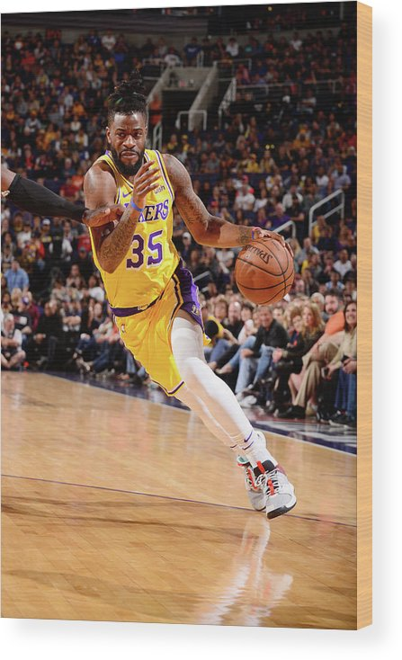 Nba Pro Basketball Wood Print featuring the photograph Reggie Bullock by Barry Gossage