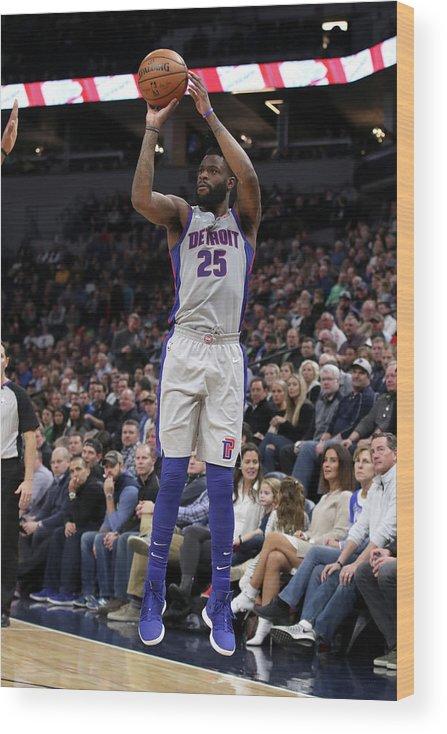 Nba Pro Basketball Wood Print featuring the photograph Reggie Bullock by Jordan Johnson