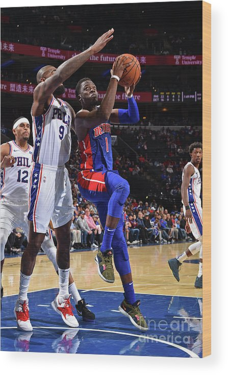 Nba Pro Basketball Wood Print featuring the photograph Reggie Jackson by David Dow