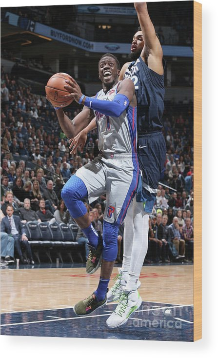 Nba Pro Basketball Wood Print featuring the photograph Reggie Jackson by David Sherman