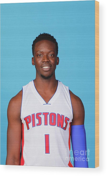 Media Day Wood Print featuring the photograph Reggie Jackson by Nba Photos