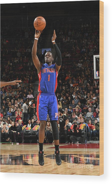Nba Pro Basketball Wood Print featuring the photograph Reggie Jackson by Ron Turenne
