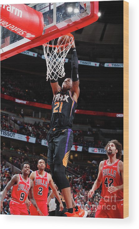 Nba Pro Basketball Wood Print featuring the photograph Richaun Holmes by Jeff Haynes