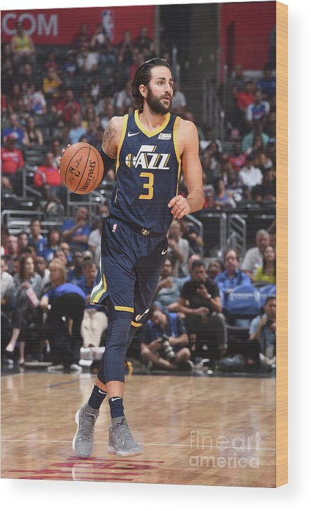 Nba Pro Basketball Wood Print featuring the photograph Ricky Rubio by Andrew D. Bernstein