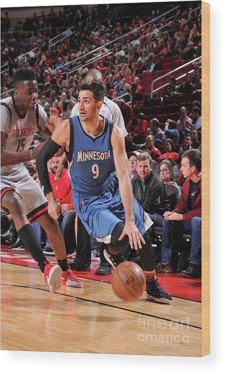 Nba Pro Basketball Wood Print featuring the photograph Ricky Rubio by Bill Baptist