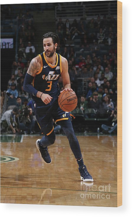 Nba Pro Basketball Wood Print featuring the photograph Ricky Rubio by Gary Dineen