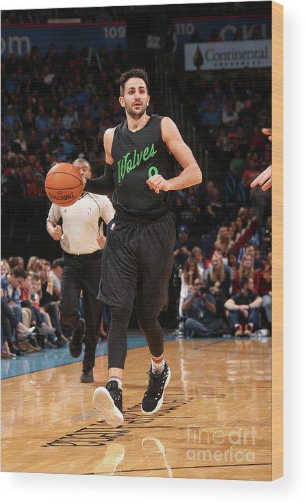 Nba Pro Basketball Wood Print featuring the photograph Ricky Rubio by Layne Murdoch
