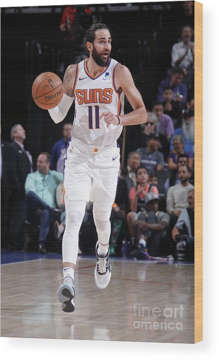 Nba Pro Basketball Wood Print featuring the photograph Ricky Rubio by Rocky Widner