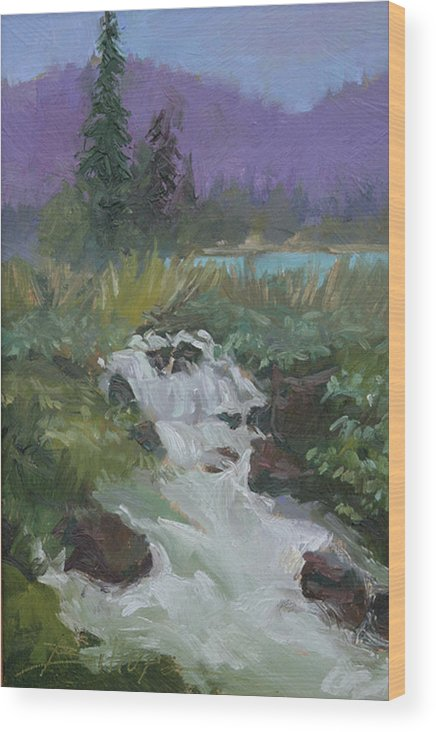 Plein Air Creeks Wood Print featuring the painting Riverside by Betty Jean Billups