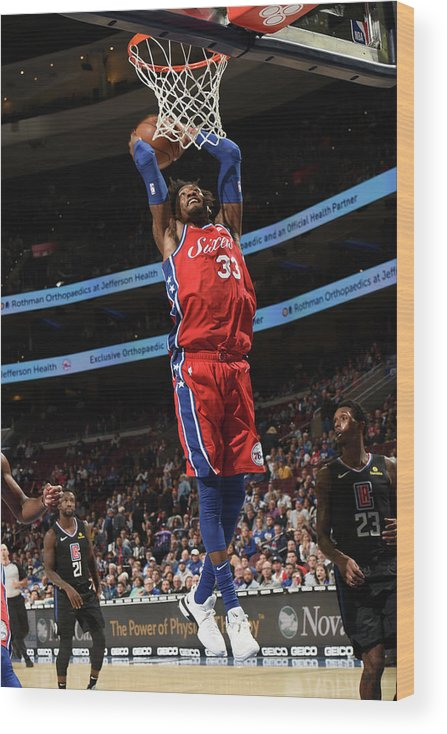 Nba Pro Basketball Wood Print featuring the photograph Robert Covington by David Dow