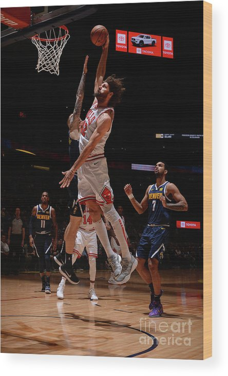Nba Pro Basketball Wood Print featuring the photograph Robin Lopez by Bart Young
