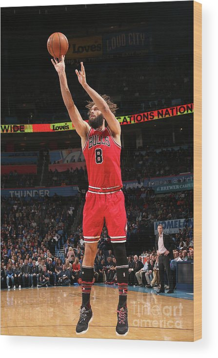Nba Pro Basketball Wood Print featuring the photograph Robin Lopez by Layne Murdoch