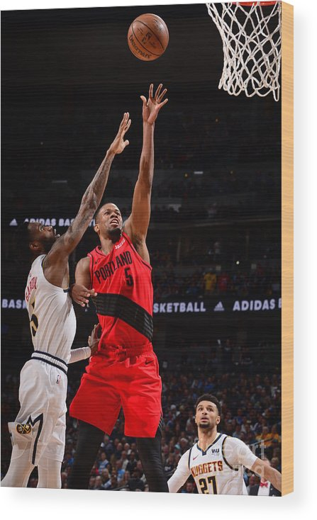 Playoffs Wood Print featuring the photograph Rodney Hood by Bart Young