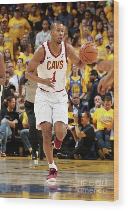 Playoffs Wood Print featuring the photograph Rodney Hood by Nathaniel S. Butler