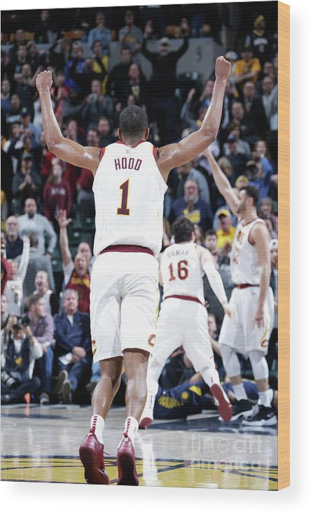 Nba Pro Basketball Wood Print featuring the photograph Rodney Hood by Ron Hoskins
