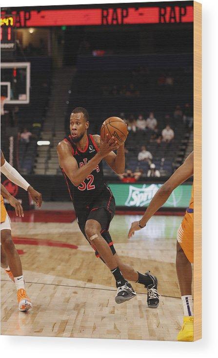 Nba Pro Basketball Wood Print featuring the photograph Rodney Hood by Scott Audette