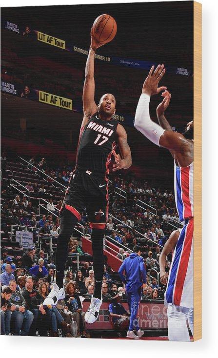 Nba Pro Basketball Wood Print featuring the photograph Rodney Mcgruder by Chris Schwegler