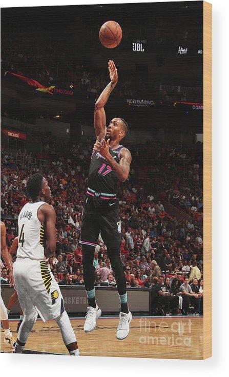 Nba Pro Basketball Wood Print featuring the photograph Rodney Mcgruder by Issac Baldizon
