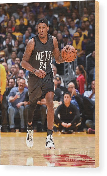Nba Pro Basketball Wood Print featuring the photograph Rondae Hollis-jefferson by Andrew D. Bernstein