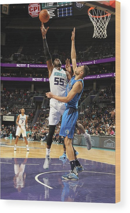 Nba Pro Basketball Wood Print featuring the photograph Roy Hibbert by Brock Williams-smith