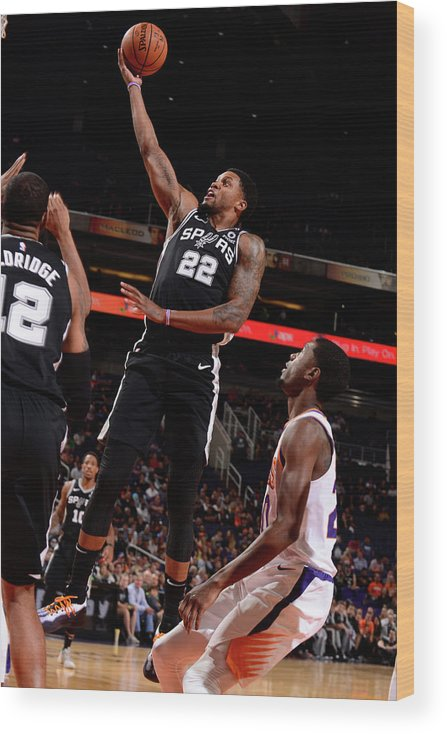 Nba Pro Basketball Wood Print featuring the photograph Rudy Gay by Barry Gossage