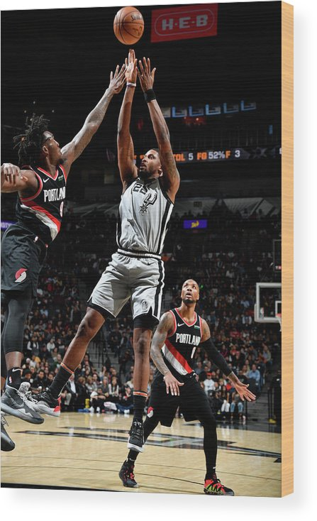 Nba Pro Basketball Wood Print featuring the photograph Rudy Gay by Logan Riely